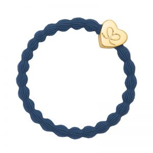 Dove Blue Pastel Gold Heart byEloise