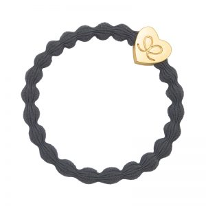 Storm Grey Classic Gold Heart byEloise