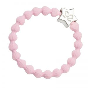A silver star on soft pink hairband - put sparkle in your hair and on your wrist with byEloise bangle bands.