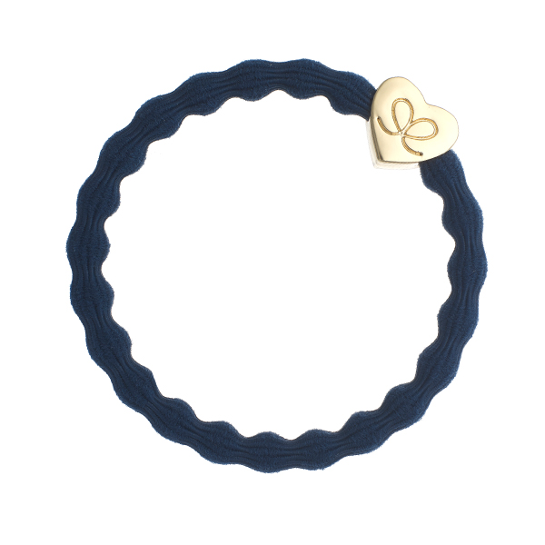 denim Blue Classic Gold Heart byEloise