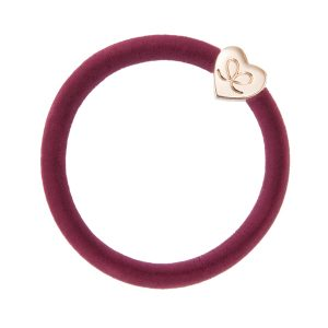 Burgundy Red Gold Heart Velvet Collection byEloise