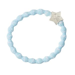 White on Sky Blue Silver Star byEloise