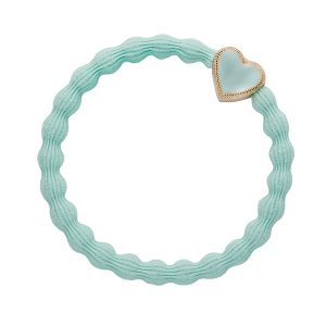 Enamel Gold Heart Mint ByEloise