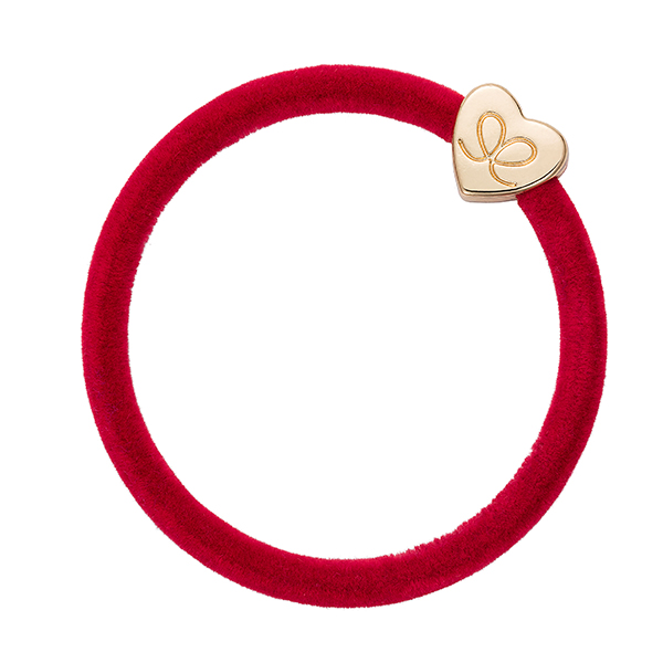 Vevet Gold heart Strawberry Red ByEloise