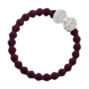 Silver Diamante Bow Plum ByEloise
