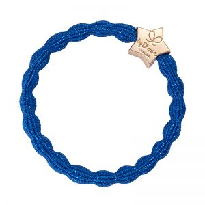 Royal Blue Gold Charm Metallic Gold Heart ByEloise