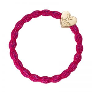 Fuchsia Gold Charms Metallic Gold Heart byEloise