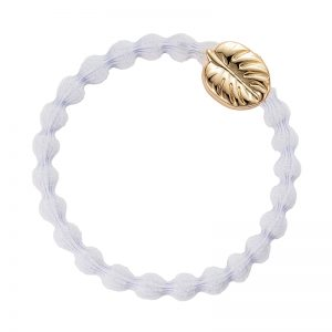 ByEloise Gold Charm Gold Leaf Palm White