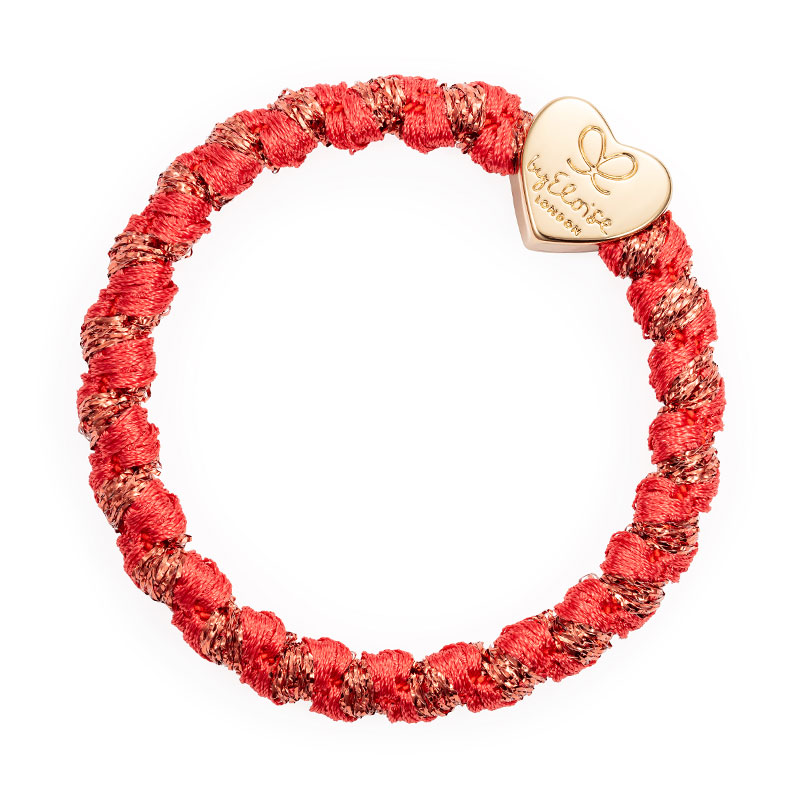 Woven Savannah Red Gold Heart ByEloise
