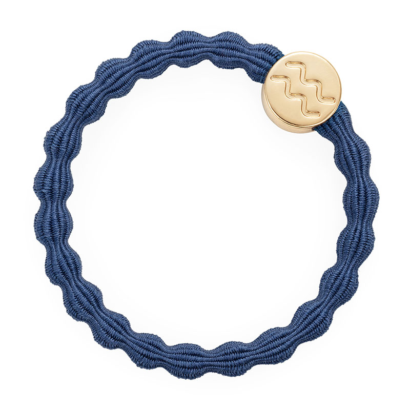 Dove Blue Gold Aquarius Zodiac ByEloise