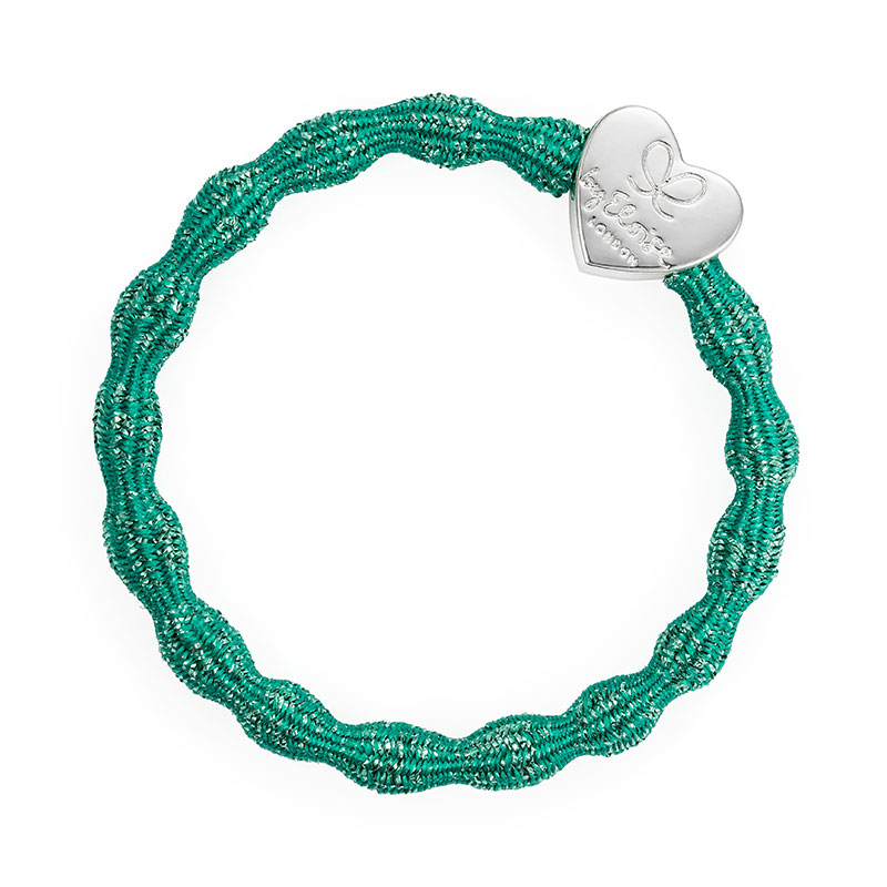 Biscay Green Silver Charms Metallic Silver Heart byEloise