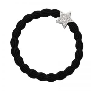 Silver Diamante Star Black ByEloise