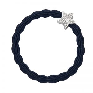 Silver Diamante Star Navy ByEloise